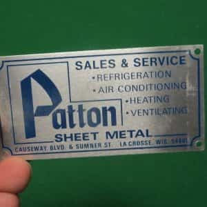 patton-sales-service-sheet-metal-la-crosse-wis-tag-emblem-advertising
