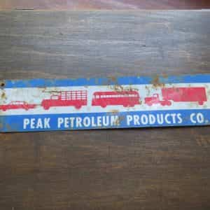 peak-petroleum-products-vtg-original-tin-metal-pump-advertising-gas-station-sign