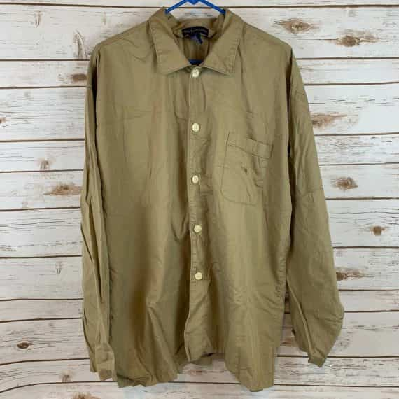 polo-ralph-lauren-shirt-size-large-tan-button-down-blouse