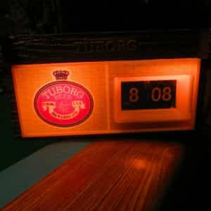 tuborg-breweries-lighted-advertising-back-bar-cash-registerelectric-clock-sign