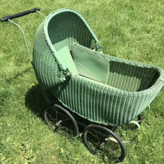 vintage-wicker-doll-pram-covered-carriage