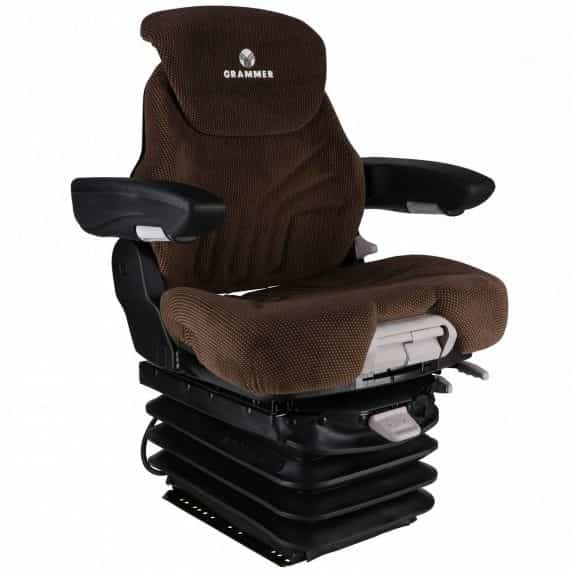 CASE Excavator Grammer Mid Back Seat Brown Fabric w/ Air Suspension S8301454