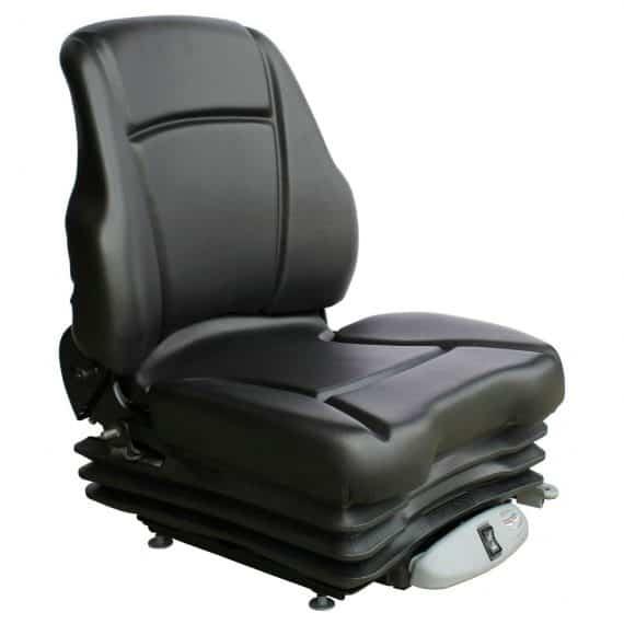 CASE IH Tractor Low Back Seat Black Vinyl Air Suspension S8302049