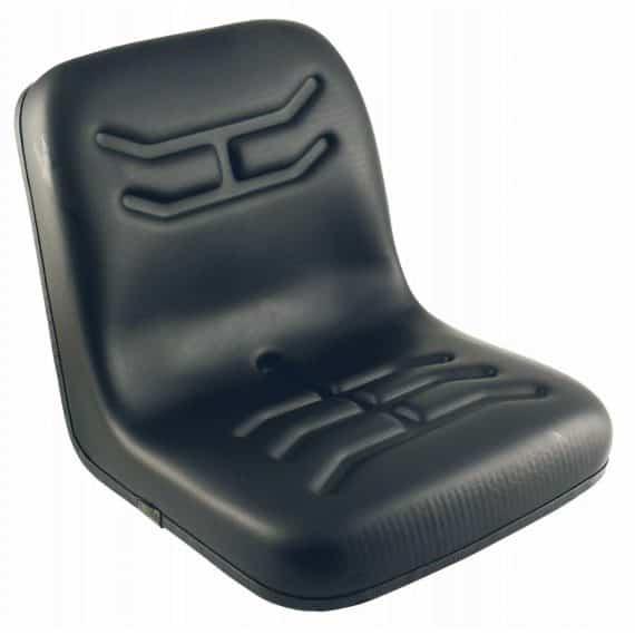 John Deere Bucket Seat, Black Vinyl S830812 Tractor