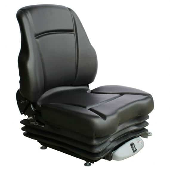 Kubota Tractor Low Back Seat Black Vinyl Air Suspension S8302049