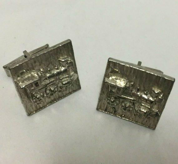 cufflinks-steam-engine-train-silver-tone-vintage