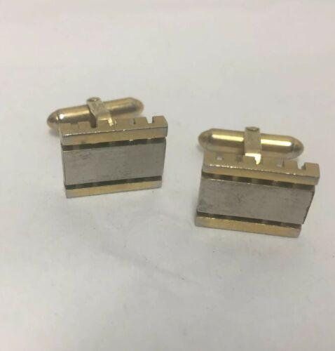 christian-dior-cufflinks-gold-silver-tone-vintage-swivel-t-back