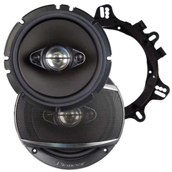 Pioneer 6.5 Inch Speakers 4 Way 350 Watts Max Pair-TSA1680F