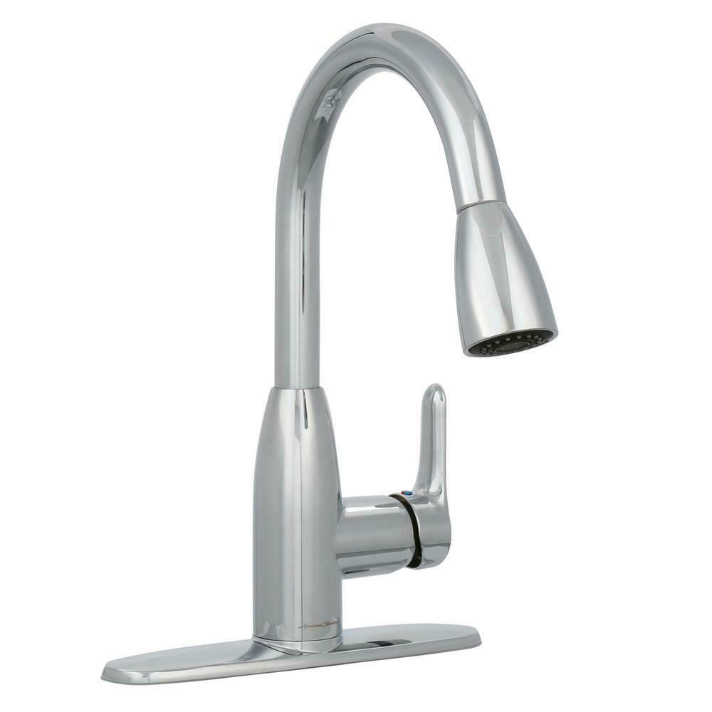 American Standard Pull Down Kitchen Faucet 1 Handle Sprayer Polished Nickel