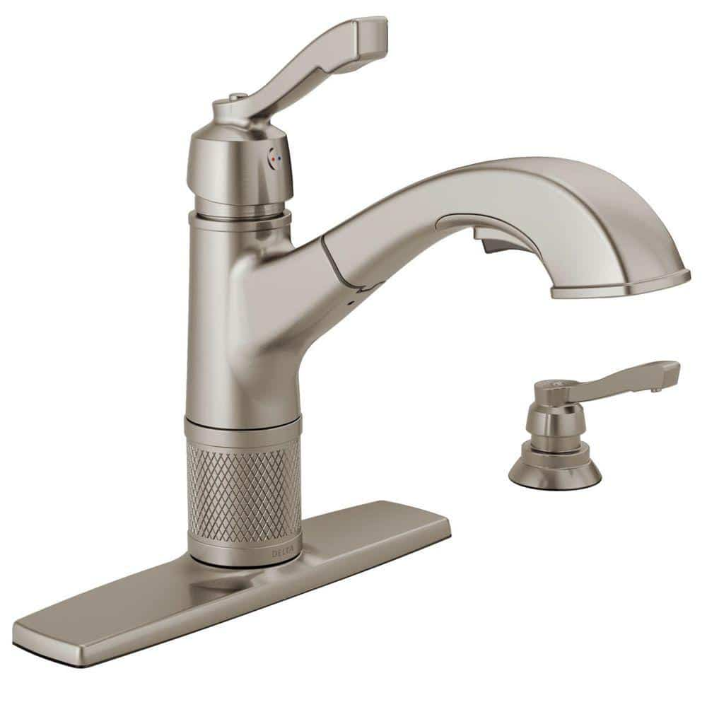 Delta Allentown 16935 Sssd Dst Single Handle Pull Out Sprayer Kitchen Faucet