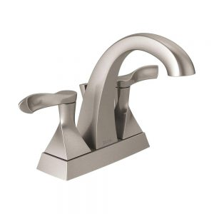 Delta Everly 25741LF-SP Centerset 2-Handle Faucet Spot Resist Brushed Nickel