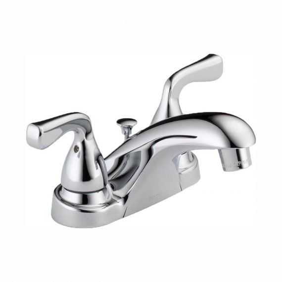 Delta Foundations B2511LF-PPU-ECO 4 in. Centerset 2-Handle Bathroom Faucet in Chrome