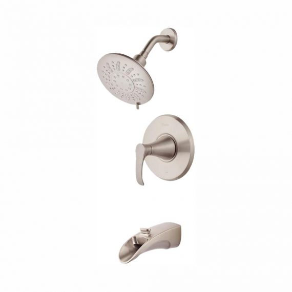 pfister-brea-p-ws-brsk-handle-spray-tub-and-shower-faucet-in-brushed-nickel-with-waterfall-spout-valve-included