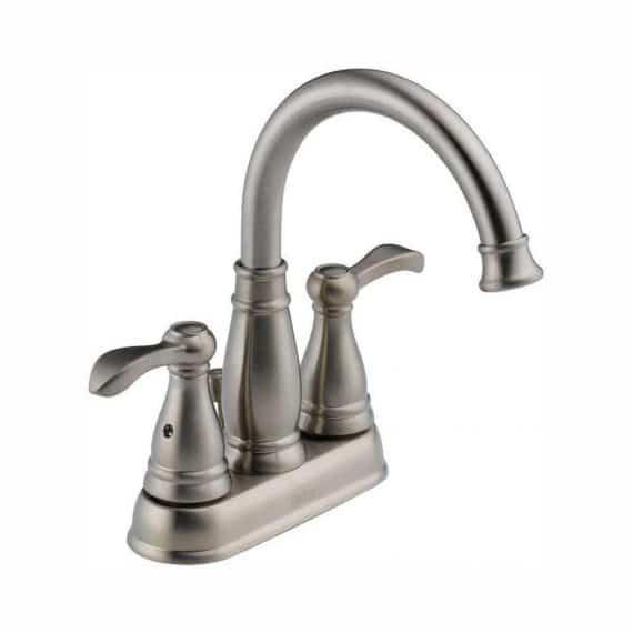 Delta Porter 25984LF-BN-ECO 4 in. Centerset 2-Handle Bathroom Faucet in Brushed Nickel