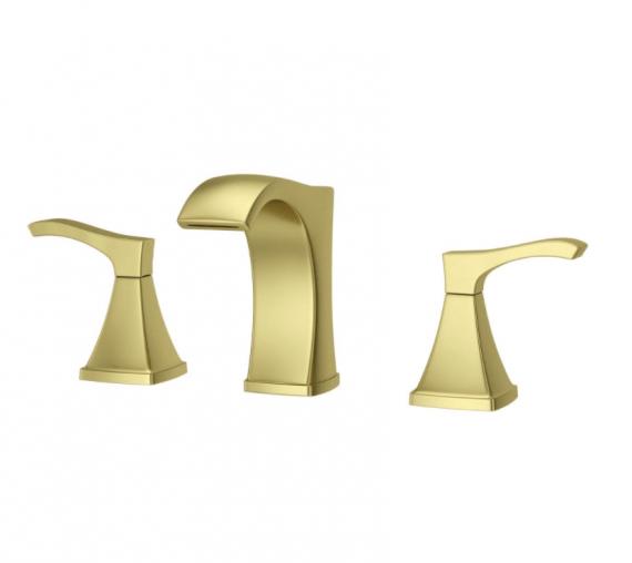 pfister-venturi-lf-vnbg-in-widespread-handle-bathroom-faucet-in-brushed-gold