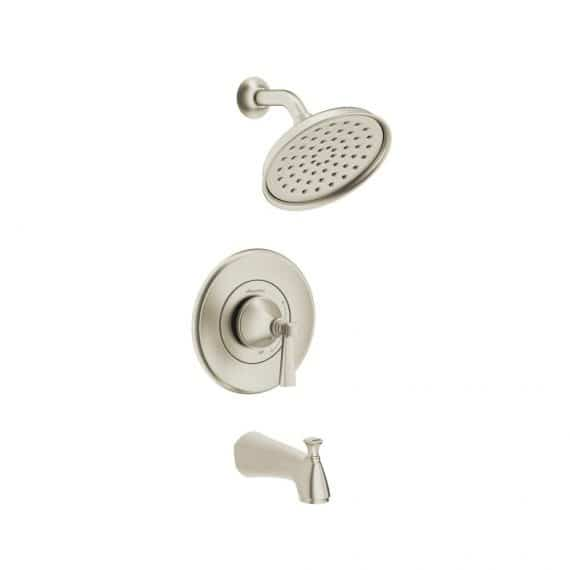 American Standard 7417502.295 Rumson Single-Handle 1-Spray Tub and Shower Faucet with 1.8 GPM in Brushed Nickel Valve Included