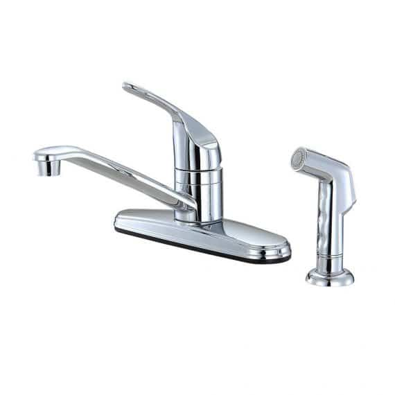 unbranded-non-metallic-handle-standard-kitchen-faucet-with-side-sprayer-in-chrome