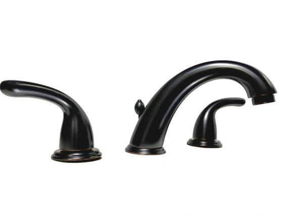 """Glacier Bay Builders 8/"""" Widespread 2-Handle High-Arc Bathroom Faucet in Bronze"""