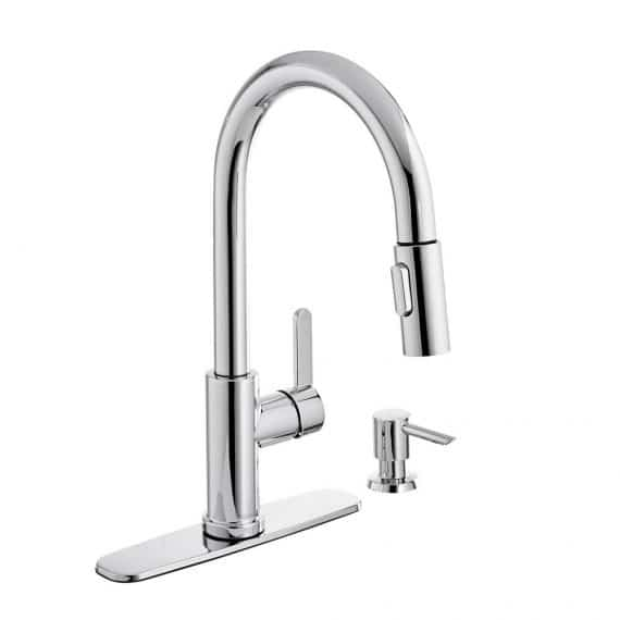 glacier-bay-paulina-single-handle-pull-down-sprayer-kitchen-faucet-with-turbospray-and-fastmount-including-soap-dispenser-in-chrome
