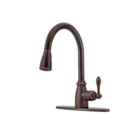 pfister-canton-f-cnu-single-handle-pull-down-sprayer-kitchen-faucet-in-rustic-bronze