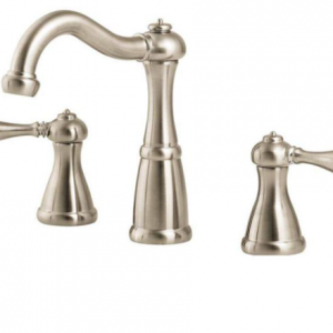 pfister-marielle-lg-mbk-in-widespread-handle-bathroom-faucet-in-brushed-nickel