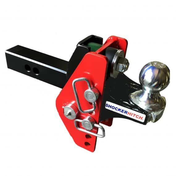 """Shocker Impact Cushioned Adjustable Ball Mount with 2"""" Hitch Ball"""
