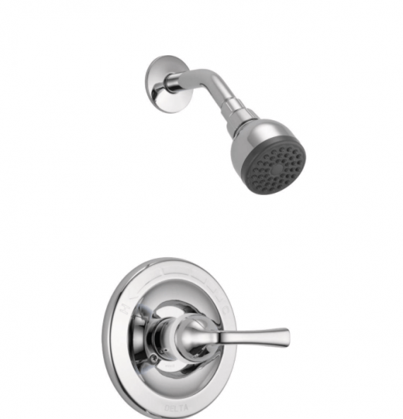 Delta B112900C Foundations Single-Handle 1-Spray Shower Faucet in Chrome (Valve Included)