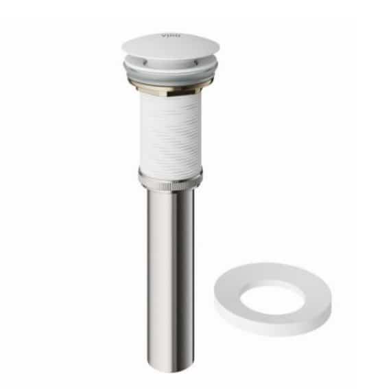 VIGO VIGO Vessel VG07000MW Bathroom Sink Pop-Up Drain And Mounting Ring In Matte White