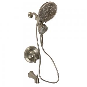 Moen Brecklyn 82611SRN 6-Spray Tub and Single-Handle Shower Faucet w/ Magnetix Rain Shower