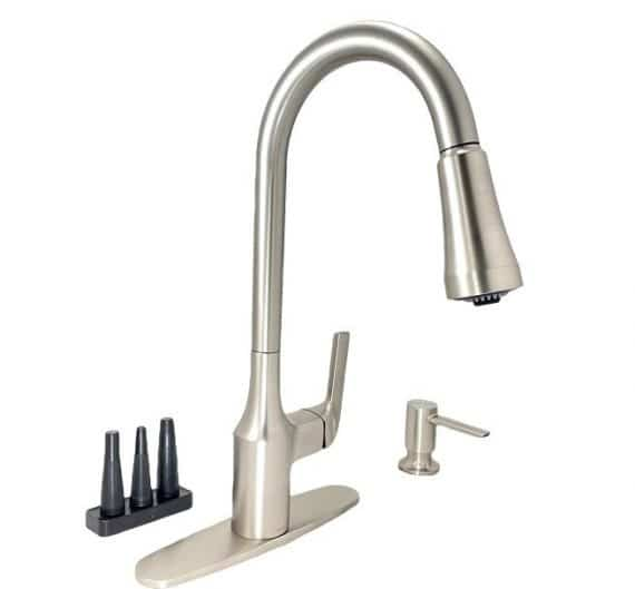 Moen Milton-87114SRS-1-Handle Pull Down Sprayer Kitchen Faucet