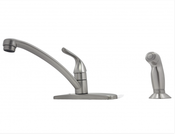 Moen Adler 87202SRS 1-Handle Kitchen Faucet with Side Sprayer