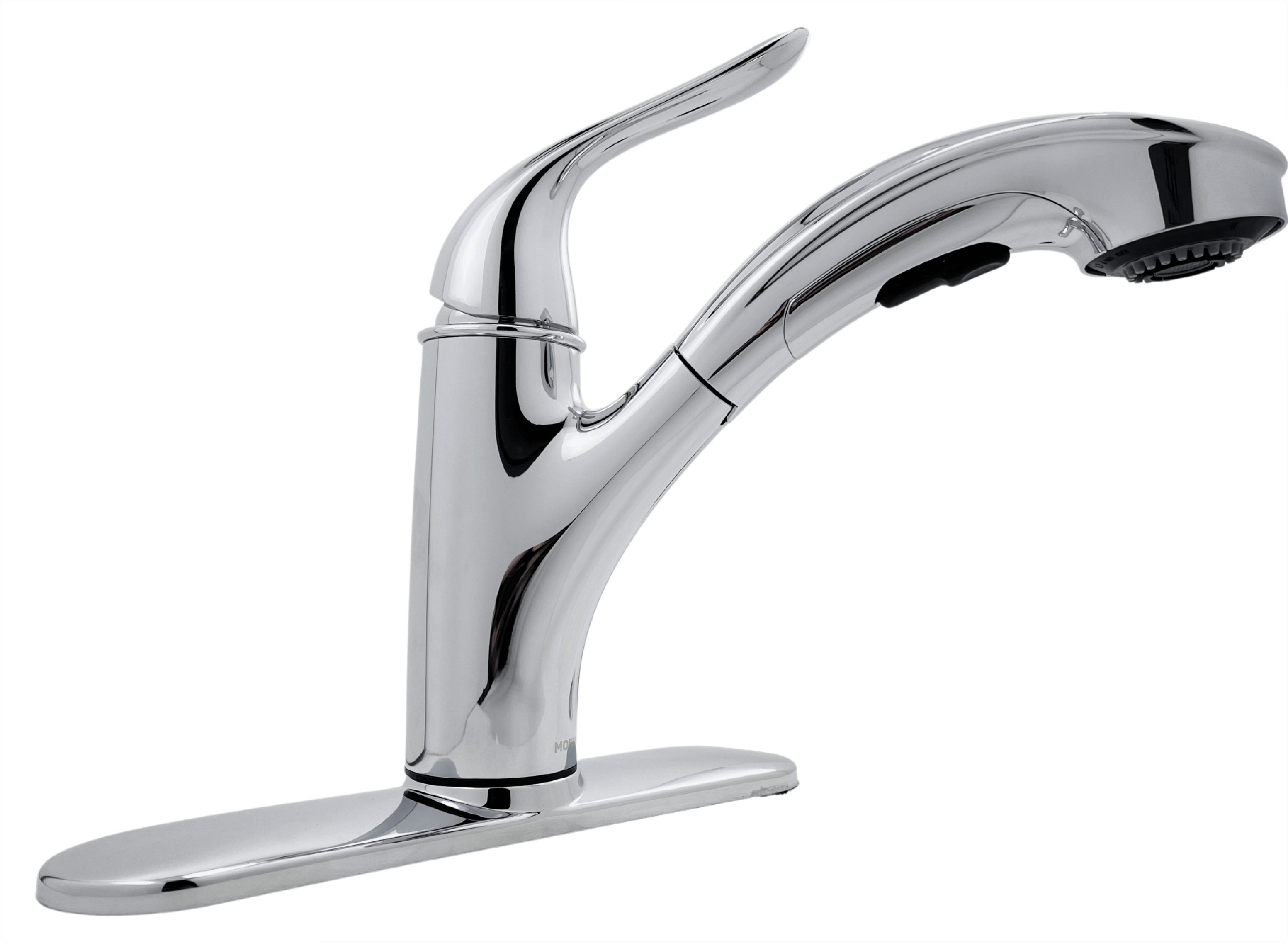 Moen Brecklyn 87557 Single Handle Pull Out Sprayer Kitchen Faucet With Power Clean In Chrome
