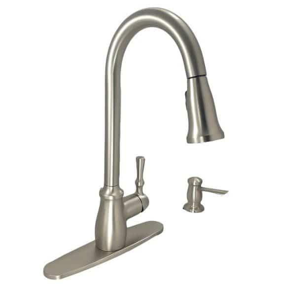 Moen 87808SRS Fieldstone Pulldown Kitchen Faucet In Stainless Steel