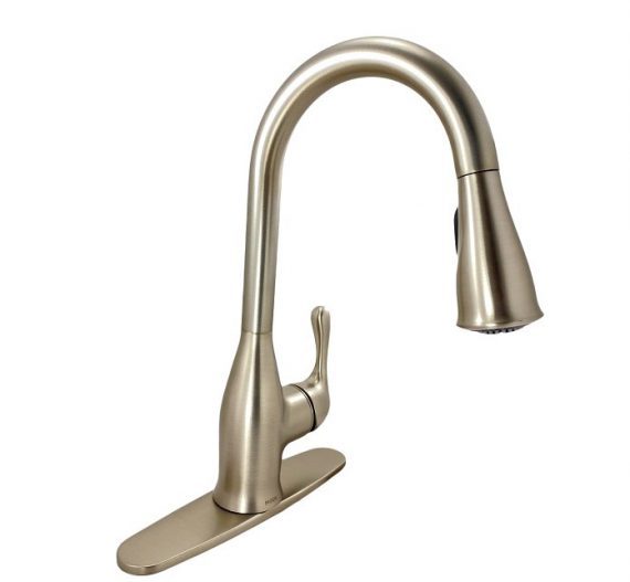 Moen Kaden 87966SRS Single-Handle Pull-Down Sprayer Faucet Spot Resist Stainless