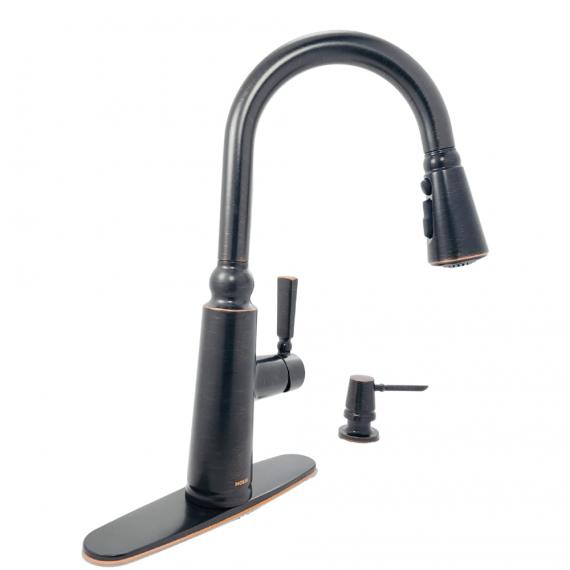 Moen Coretta-87997BRB-1-Handle Pull-Down Sprayer Kitchen Faucet