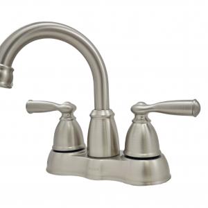 Moen Banbury WS84913SRN 4 in. Center set Dual-Handle Bathroom Faucet in Brushed Nickel Finish