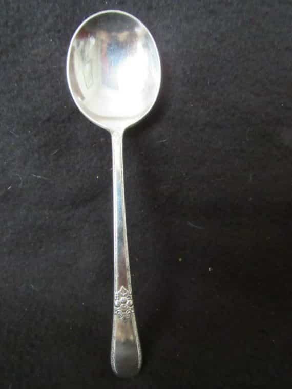 1 Round Soup Spoon, Adoration Silverplate  (2560)