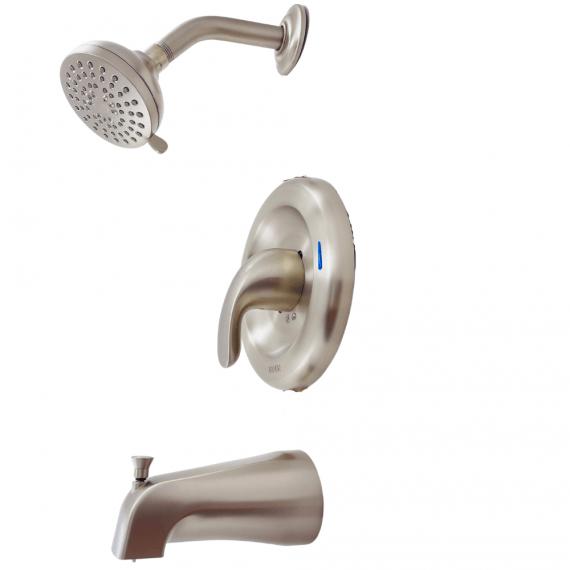 Moen Adler-82613SRN-1-Handle 4-Spray Tub-Shower Faucet