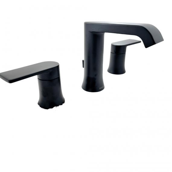 Moen Genta - 84763BL - 8 in. Widespread Double-Handle Bathroom Faucet in Matte Black