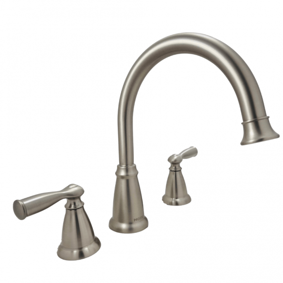 Banbury - 86924SRN - 2-Handle Deck-Mount High Arc Roman Tub Faucet