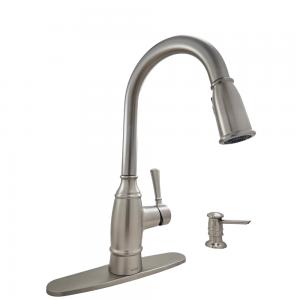 Moen Noell-87791SRS-1-Handle Pull-Down Sprayer Kitchen Faucet