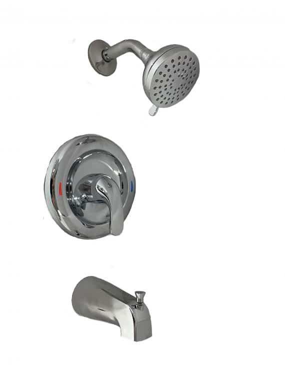 MOEN Adler-82603-Single-Handle 4-Spray Tub and Shower Faucet