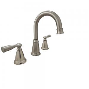 Moen Banbury WS84924SRN 8 in. Two-Handle High-Arc Bathroom Faucet
