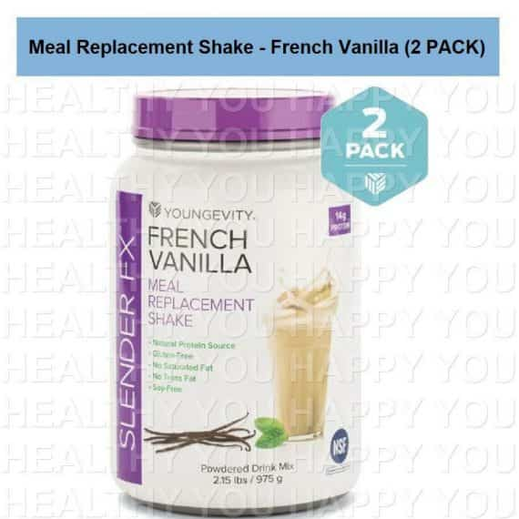 Slender Fx Meal Replacement Shake - French Vanilla (4 PACK) Youngevity