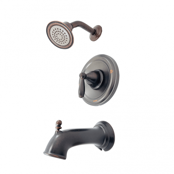 Moen Brantford - T2153EPORB - Single-Handle One-Spray Posi-Temp Tub and Shower Faucet Trim Kit in Bronze Finish