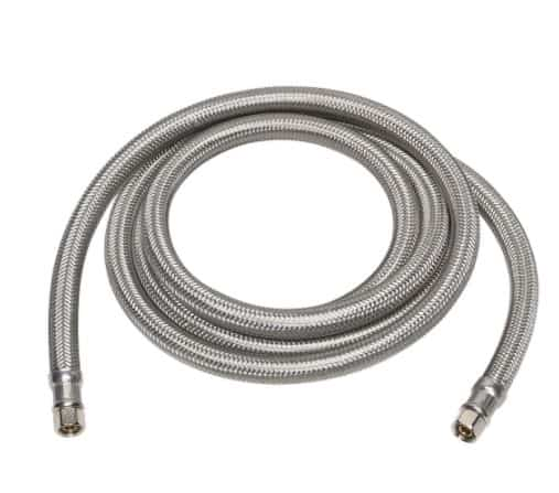Everbilt 1004 650 242 1/4 in. Compression x 1/4 in. Compression x 60 in. Steel Braided Ice Maker Connector