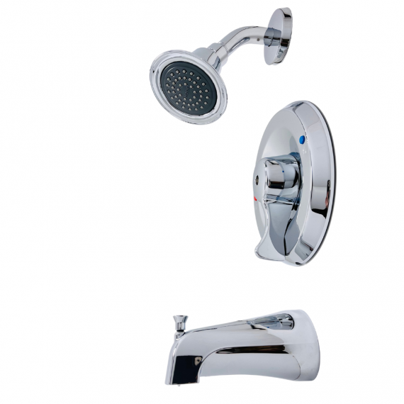 MOEN - T8389 - Commercial Single-Handle Posi-Temp Tub and Shower Faucet Trim Kit in Chrome (Valve Not Included)