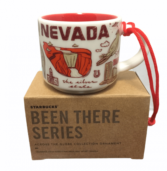 Starbucks Been There Nevada Ornament Mini Mug 2 OZ Tahoe Silver State