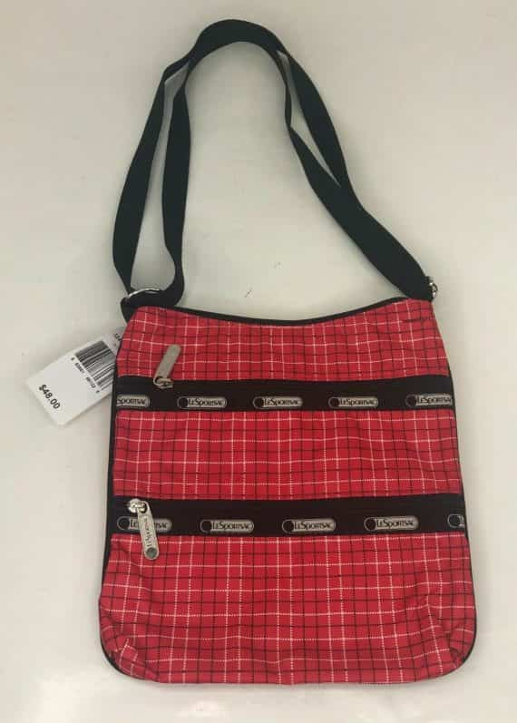 new-lesportsac-kylie-crossbody-shoulder-bag-tattersall-red-with-tags