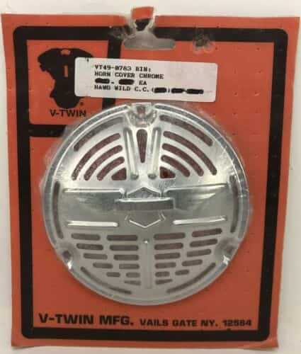new-v-twin-chrome-wing-grill-horn-cover-harley-el-fl